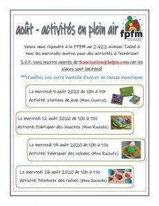 Activités en plein air - FPFM